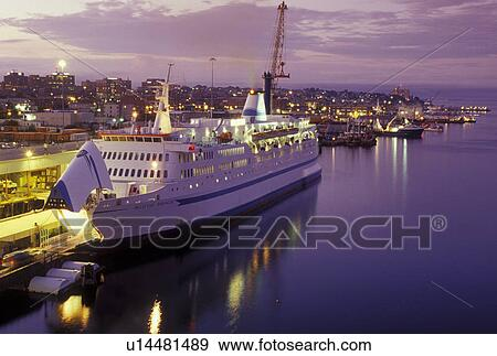 Stock Photograph Of Portland ME Maine Prince Of Fundy Cruise - Portland maine cruise ship terminal