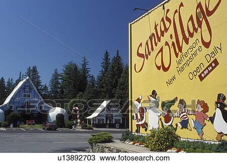Stupendous Stock Photo Of Jefferson Nh New Hampshire Entrance To Santas Easy Diy Christmas Decorations Tissureus
