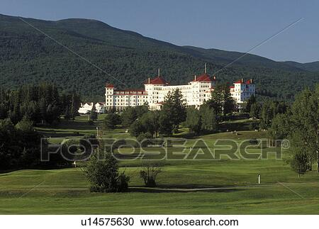 Stock Photography of hotel, resort, Bretton Woods, NH, New ...