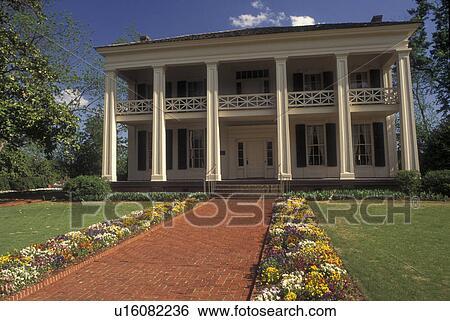 Stock Images Of Birmingham Al Alabama Arlington Antebellum Home Garden Greek Revival