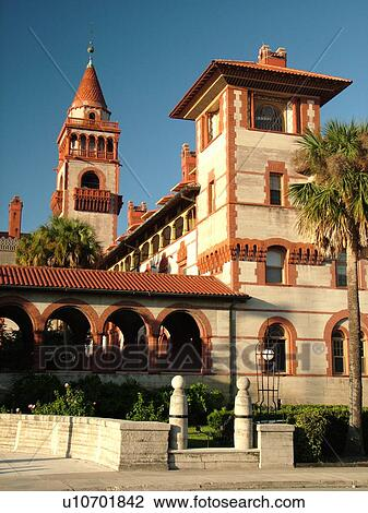 Stock Photo Of St Augustine FL Florida The Old City Flagler