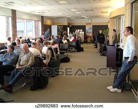 Stock Photo Of Burlington Vt Vermont Passengers Waiting