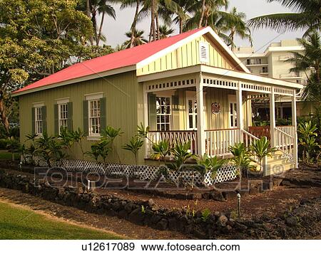 Stock Photograph Of Keauhou Big Island Hawaii HI Kona Coast Summer Beach House King Kalakaua