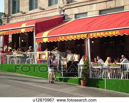 Picture of montreal canada qc quebec old port old montreal place jacques cartier - Restaurants old port montreal ...