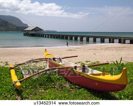 Stock Photo of Princeville, Kauai, HI, Hawaii, North Shore ...