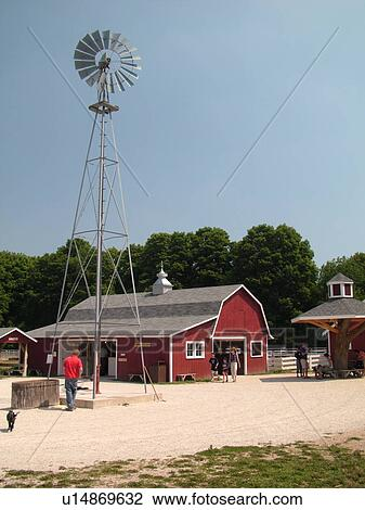 Sturgeon Bay WI Wisconsin Door Peninsula The Farm A Living Museum of Rural America & Stock Photo of Sturgeon Bay WI Wisconsin Door Peninsula The ... pezcame.com