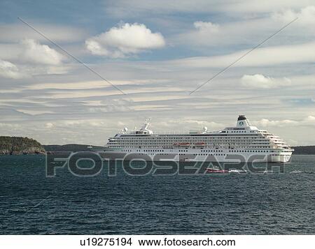 Stock Photo Of Bar Harbor ME Maine Mount Desert Island - Cruise ship bar harbor