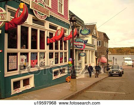 Pictures of Bar Harbor, ME, Maine, Mount Desert Island, Downtown ...