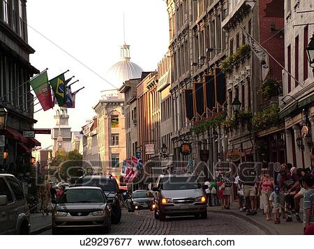 Picture of montreal canada qc quebec old port old montreal rue saint paul cobblestone - Restaurants old port montreal ...