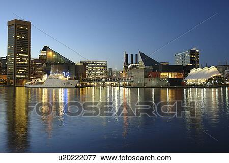 Picture Baltimore Md Maryland Chesapeake Bay Downtown Skyline Inner Harbor