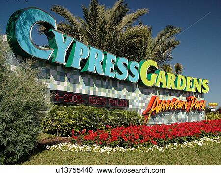 Stock photography of winter haven fl florida cypress for Cypress gardens mural