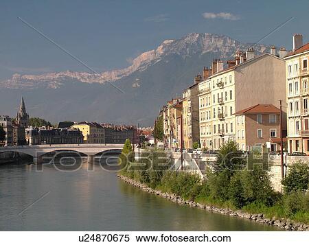 Frankreich grenoble isere rhone alpes europa isere fluß großes