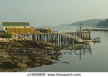 Stock photography of stonington me maine deer isle for Ocean isles fishing village