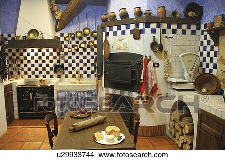 Stock Photo Of Traditional Spanish Farmhouse Kitchen U29933744