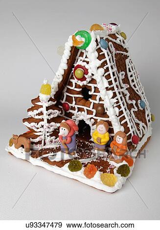 Banque de photographies traditionnel pain pice biscuit maison d cor assorti bonbon - Maison en biscuit et bonbons ...