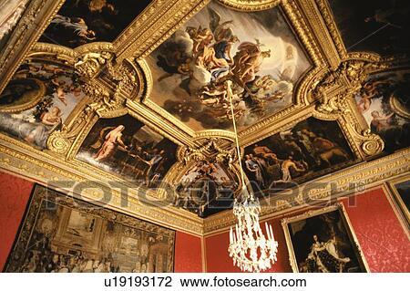 Stock photo of salon d 39 apollon palace of versailles for Salon d apollon
