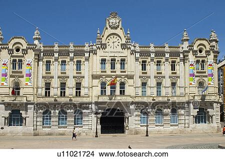 Stock Photo of Spain Cantabria Santander Architecture City Town