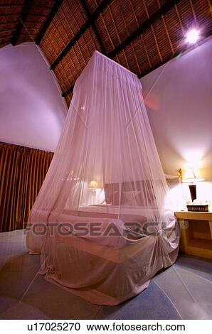 Stock Photography   A Romantic Bedroom With Curtain Around Bed. Fotosearch    Search Stock Photos