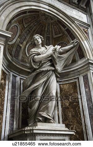 banque d 39 image saint veronica statue int rieur basilique saint pierre rome italy. Black Bedroom Furniture Sets. Home Design Ideas