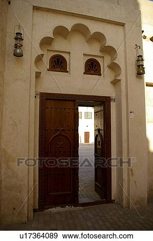 Stock Photograph Of Gate Country Door Sharjah Uae Old Arabic