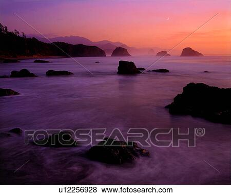 Pictures Of Sunset At Ecola State Park Near Cannon Beach