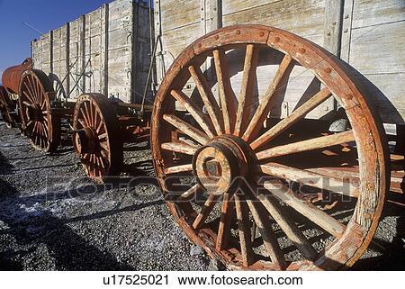 Stock Photography of Twenty mule team wagon, Death Valley ...