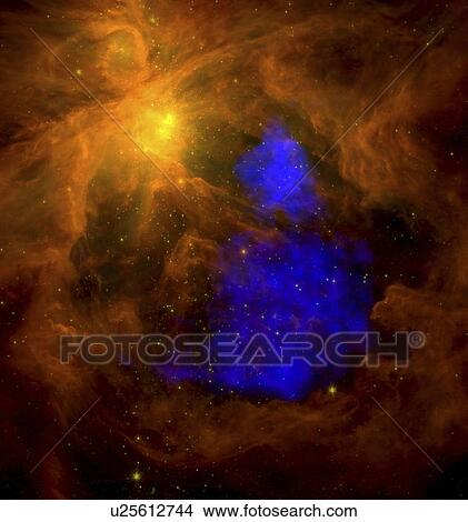Stock photo of this is a spitzer image of the orion nebula - Lecteur blue ray mural ...