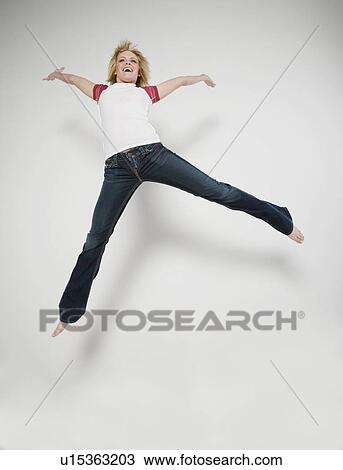 stock photo of jump for joy u15363203 search stock