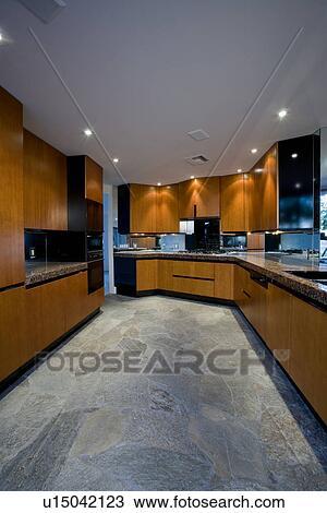 Arkivfoto   luksus, innert design, kjøkken u15042123   søk ...