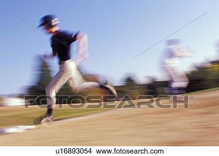 Baseball player running bases clipart