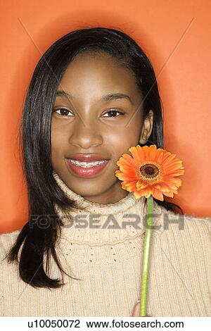 Alt african american teen smiling