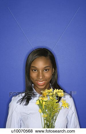 Of Smiling African American Teen 120