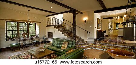 Stock Image   Spanish Style Living Room. Fotosearch   Search Stock Photos,  Mural Pictures