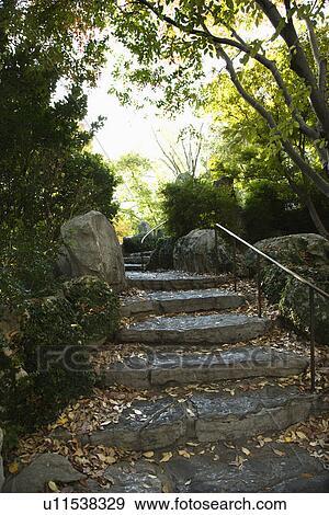 Archivio fotografico pietra scale in esterno - Scale in giardino ...