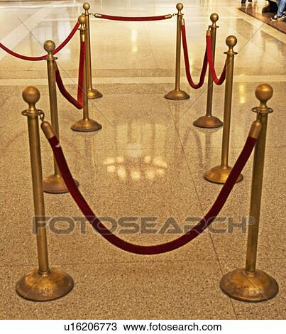 Stock Photo of the velvet rope u16206773 - Search Stock ...