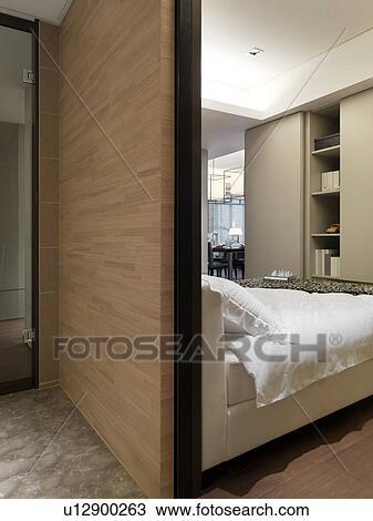 Archivio fotografico parete legno dietro letto for Parete dietro letto
