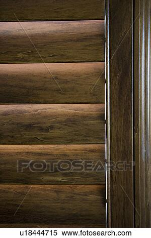 Stock Image Of Wooden Plantation Style Blinds U18444715