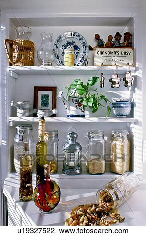 Stock Photo Of Old Country Style Kitchen Pantry Area