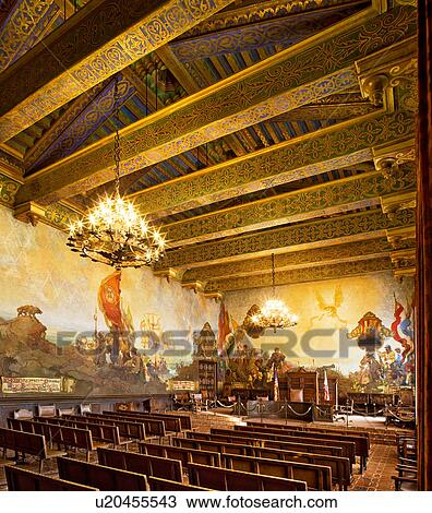 Stock photo of mural room inside santa barbara county courthouse u20455543 search stock images for Mural room santa barbara