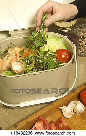 stock image organic recycling kitchen compost pail fotosearch search stock photography