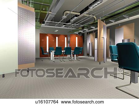 Stock photo of ceiling chair computer graphic corridor decor u16107764 search stock images - Decor corridor ...