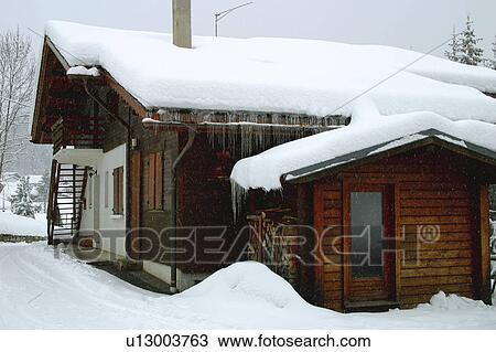 Archivio fotografico paesaggio di neve paesaggio for Stampe di baite
