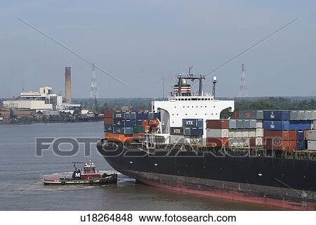 images eau bateau transporteur industrie marchandises r cipients u18264848 recherchez. Black Bedroom Furniture Sets. Home Design Ideas