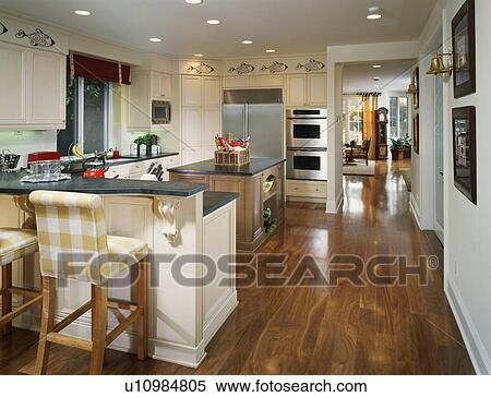 Stock Image   Nautical Themed Kitchen. Fotosearch   Search Stock Photos,  Mural Pictures,
