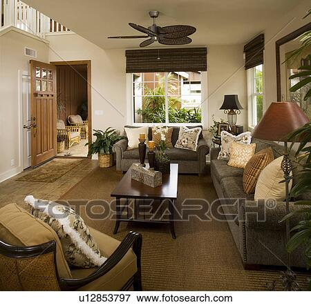 Picture Of Contemporary Beach Style Living Room U12853797