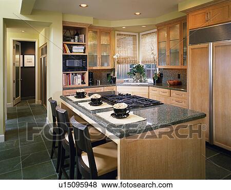 bilder modernes kueche mit insel u15095948 suche stockfotos bilder print fotos und foto. Black Bedroom Furniture Sets. Home Design Ideas