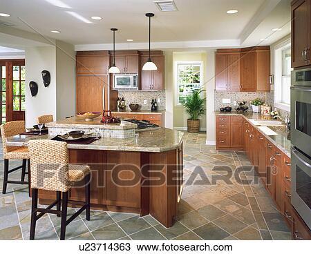 stock foto modernes kueche in k sten eigenheim u23714363 suche stock fotografien. Black Bedroom Furniture Sets. Home Design Ideas
