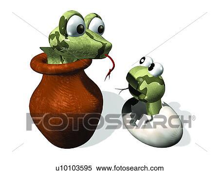 Archivio immagini uovo animale serpente carino rana - Animale cartone animato immagini gratis ...