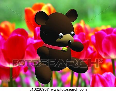 Immagine 3d orso cartone animato carino animale - Animale cartone animato immagini gratis ...