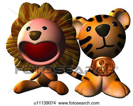 Archivio fotografico 3d leone cartone animato carino - Animale cartone animato immagini gratis ...